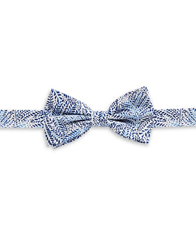 Haight And Ashbury Flower Cotton Bow Tie-BLUE-One Size