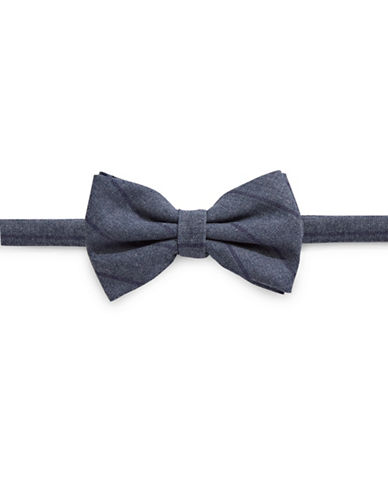Haight And Ashbury Striped Silk Bow Tie-GREY/PURPLE-One Size