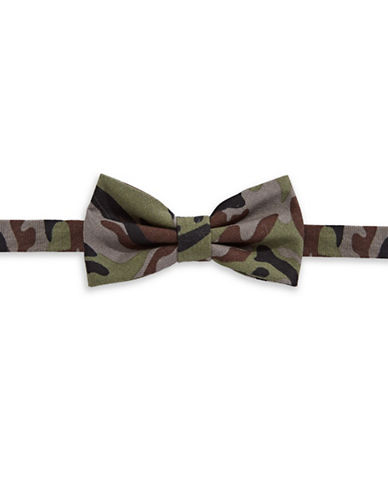 Haight And Ashbury Camouflage Bow Tie-GREEN-One Size