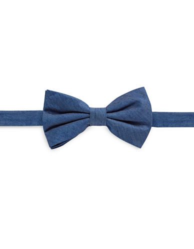 Haight And Ashbury Denim Bow Tie-BLUE-One Size