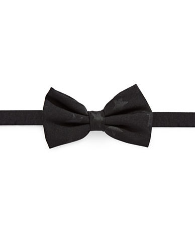 Haight And Ashbury Tonal Multi-Star Cotton Bow Tie-BLACK-One Size