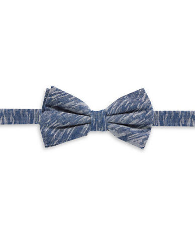 Haight And Ashbury Tonal Denim Bow Tie-BLUE/WHITE-One Size