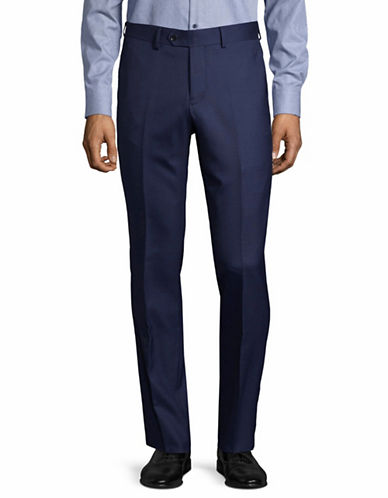 Haight And Ashbury Upton Wool Tuxedo Pants-BLUE-36 Regular