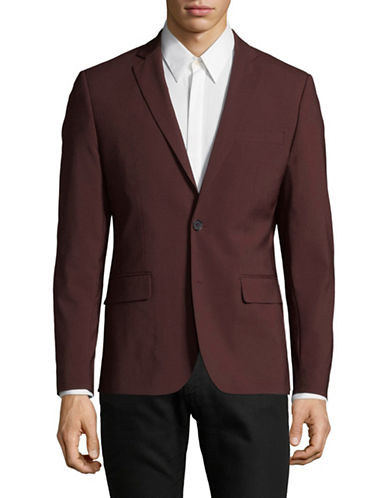 Haight And Ashbury Northwood Wool Blazer-RED-40 Regular