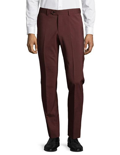 Haight And Ashbury Upton Wool-Blend Pants-RED-32