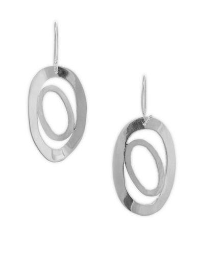 Serpentina Silver Oviform Drop Earrings-SILVER-One Size