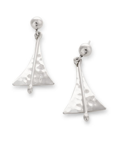 Serpentina Silver Elongated Triangle Drop Earrings-SILVER-One Size