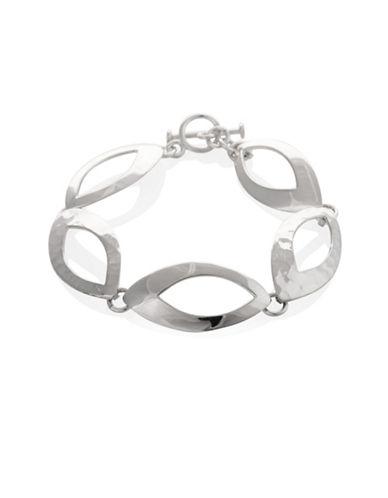 Serpentina Silver Eyelet Link Bracelet-SILVER-One Size