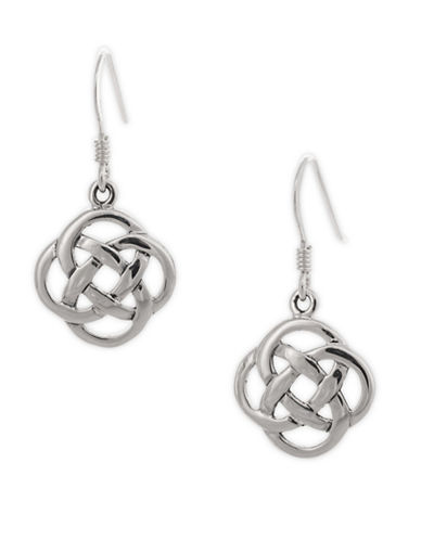 Serpentina Silver Five-Fold Celtic Knot Earrings-SILVER-One Size
