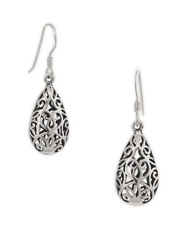 Serpentina Silver Celtic Teardrop Earrings-SILVER-One Size