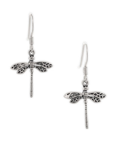 Serpentina Silver Small Dragonfly Earrings-SILVER-One Size