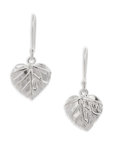 Serpentina Silver Sterling Silver Leaf Earrings-SILVER-One Size