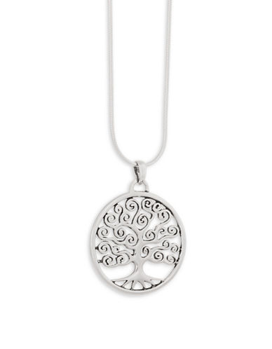 Serpentina Silver Tree of Life Pendant Necklace-SILVER-One Size