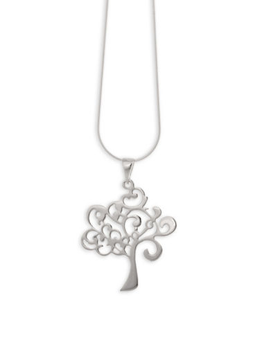 Serpentina Silver Whimsical Tree Pendant Necklace-SILVER-One Size