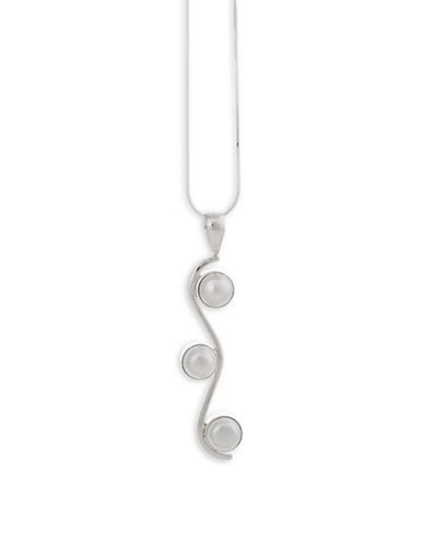 Serpentina Silver Cascading Pearl Pendant Necklace-SILVER-One Size