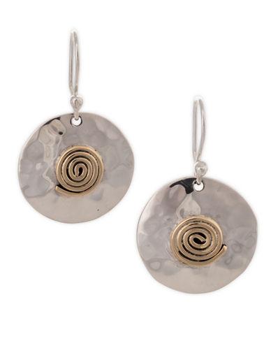Serpentina Silver Aztec Swirl Earrings-SILVER-One Size
