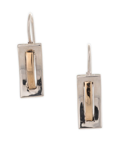 Serpentina Silver Silver and Tumbaga Convex Drop Earrings-SILVER/GOLD-One Size