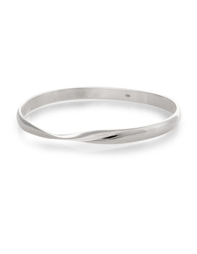 Serpentina Silver Core Sterling Silver Twisted Bangle Bracelet-SILVER-One Size