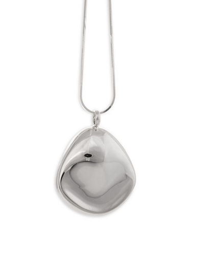 Serpentina Silver Core Sterling Silver Oblong Pendant Necklace-SILVER-One Size