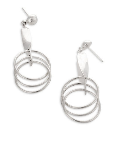 Serpentina Silver Core Sterling Silver Multi-Hoop and Stick Drop Earrings-SILVER-One Size