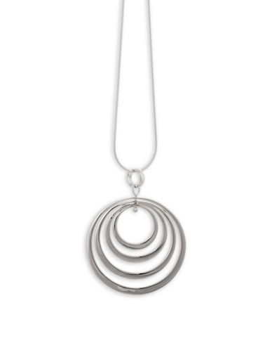 Serpentina Silver Core Sterling Silver Multi-Hoop Pin Drop Bale Pendant Necklace-SILVER-One Size