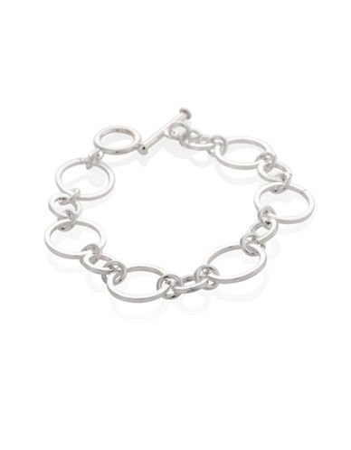 Serpentina Silver Core Sterling Silver Multi-Circle Link Bracelet-SILVER-One Size