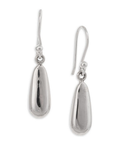 Serpentina Silver Core Sterling Silver Weighty Teardrop Earrings-SILVER-One Size
