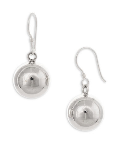 Serpentina Silver Core Sterling Silver Large Hollow Ball Drop Earrings-SILVER-One Size