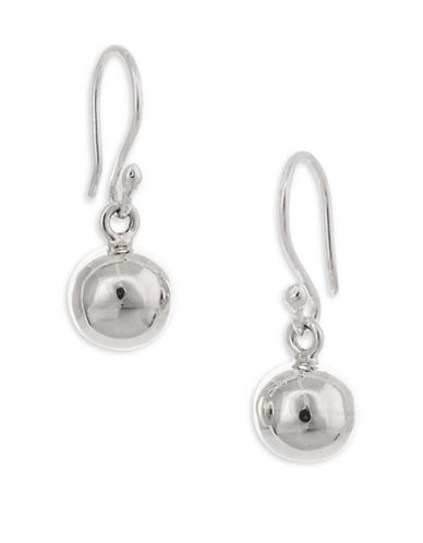 Serpentina Silver Core Sterling Silver Small Hollow Ball Drop Earrings-SILVER-One Size