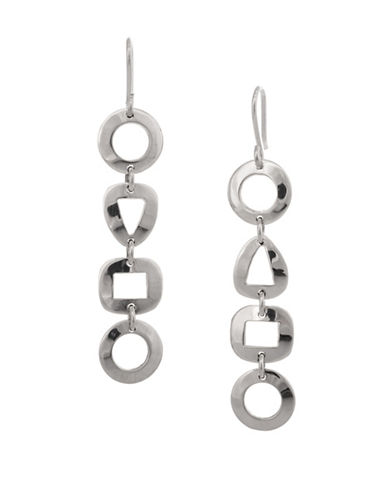 Serpentina Silver Core Sterling Silver Geometric Dangly Drop Earrings-SILVER-One Size