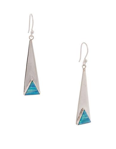 Serpentina Silver Core Sterling Silver Sleek Drop Earrings-SILVER-One Size