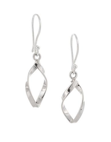 Serpentina Silver Core Sterling Silver Small Open Twist Drop Earrings-SILVER-One Size