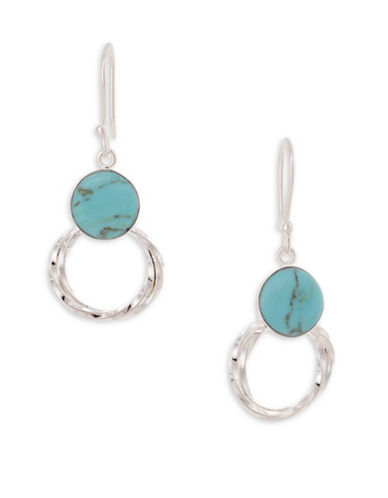 Serpentina Silver Silver Plate Designs Three-Twist Drop Earrings-SILVER-One Size