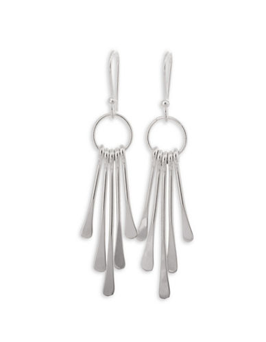 Serpentina Silver Silver Plate Designs Fanned Icicles Drop Earrings-SILVER-One Size