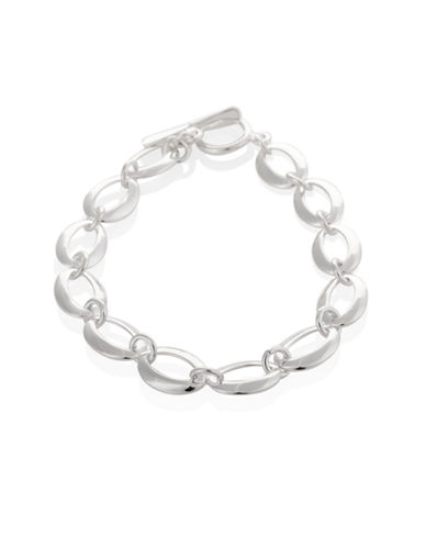 Serpentina Silver Silver Plate Designs Open Eye Link Bracelet-SILVER-One Size