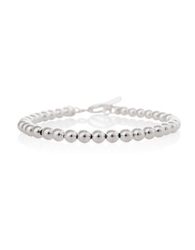 Serpentina Silver Silver Plate Designs Ball Link Bracelet-SILVER-One Size