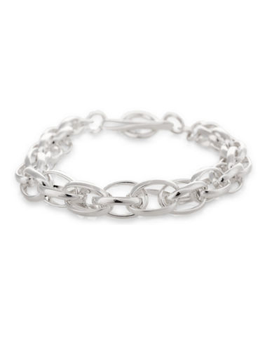 Serpentina Silver Silver Plate Designs Cage Basket Link Bracelet-SILVER-One Size