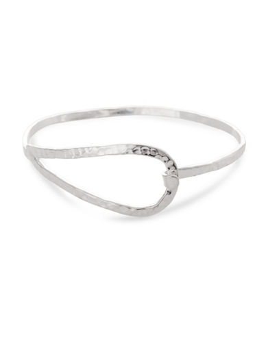 Serpentina Silver Silver Plate Designs Hook-And-Eye Clip Bangle-SILVER-One Size