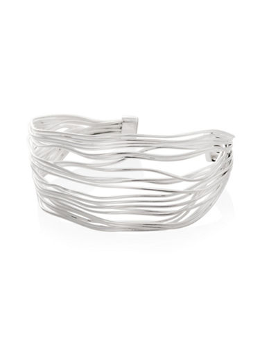 Serpentina Silver Silver Plate Designs Strands Cuff Bracelet-SILVER-One Size