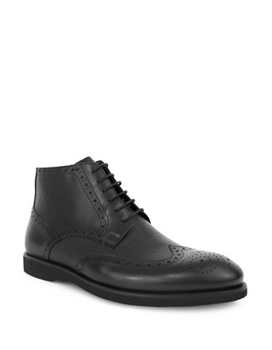 Jay+Dee Man Leather Wingtip Dress Boot-BLACK-EU 42/US 9