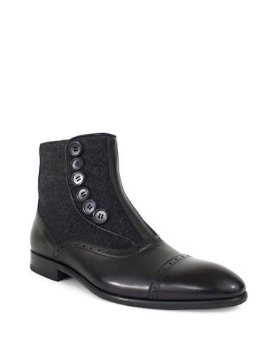 Jay+Dee Man Hugo Button Up Dress Boot-BLACK-EU 43/US 10
