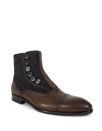 Jay+Dee Man Hugo Button Up Dress Boot-BROWN-EU 43/US 10