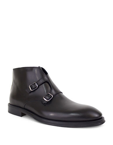 Jay+Dee Man Bentley Double Strap Dress Boot-BLACK-EU 39/US 6