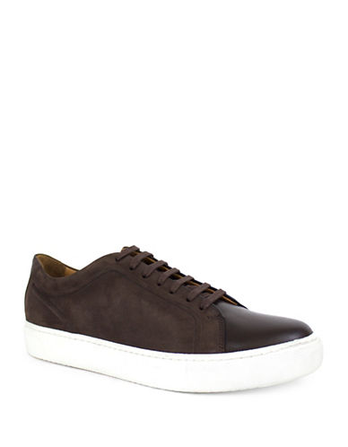 Jay+Dee Man Cameron Leather and Suede Sneaker-BROWN-EU 42/US 9