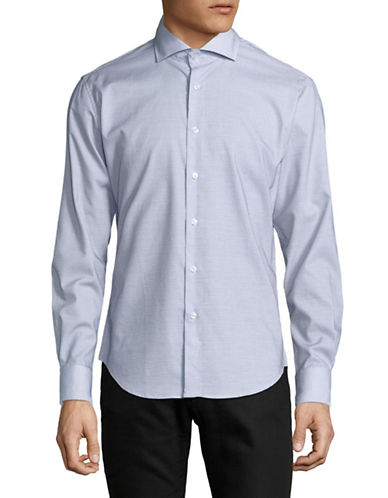 Haight And Ashbury Chelsea Cotton Sport Shirt-BLUE-Large