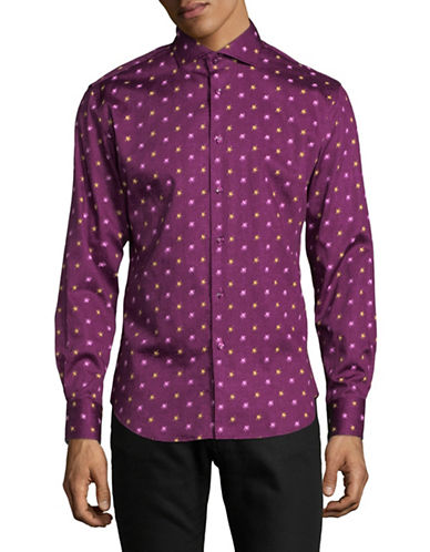 Haight And Ashbury Chelsea Speckled Sport Shirt-PURPLE-XX-Large