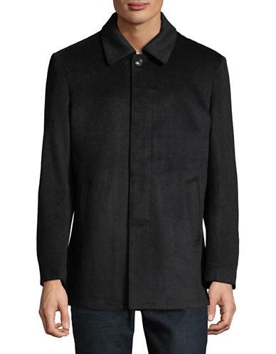 Haight And Ashbury Collared Wool-Blend Jacket-NAVY-Medium