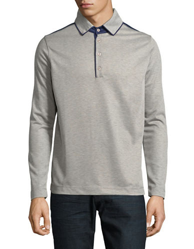Haight And Ashbury Colourblock Long-Sleeve Polo-NATURAL-XX-Large
