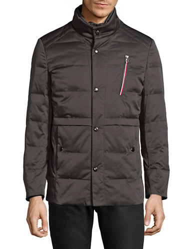 Haight And Ashbury Quilted Mock Neck Jacket-BLACK-X-Small 89755329_BLACK_X-Small