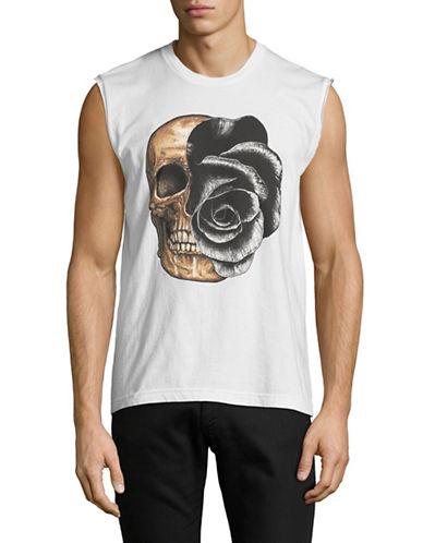 Dom Rebel Rose Skull Tank Top-WHITE-X-Large 89762716_WHITE_X-Large